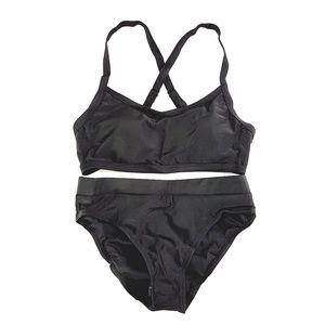 Black High Waist Camisole Style Padded Top Bikini